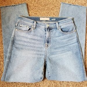 7 For All Mankind Straight Leg High Waisted Jeans